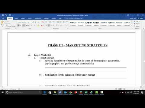 The Marketing Plan Summary Video