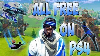 NEW LEAKED!!!! FREE FORTNITE SKINS, GLIDERS, PICKAXE & SKYDIVING TRAILS FOR PLAYSTATION PLUS PACK 3!