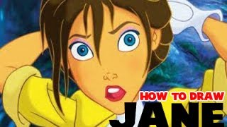 How to Draw Jane from Tarzan