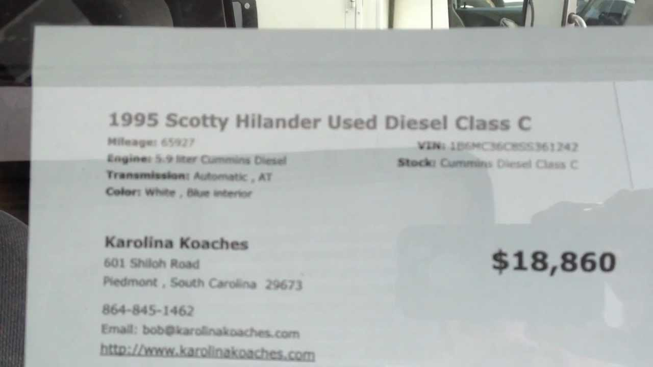 1996 Dodge Chassis Class C RV Cummins Diesel Scotty Highlander