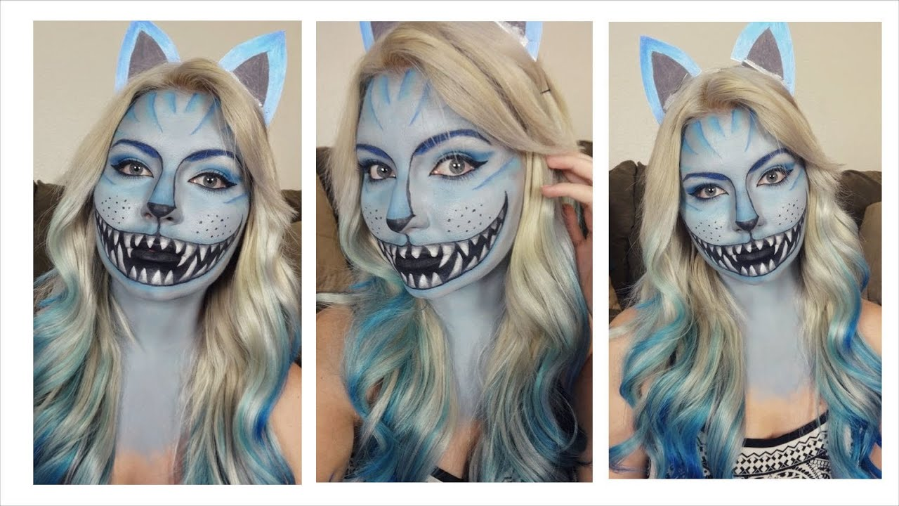 cheshire cat halloween makeup tutorial 2014 series youtube. Black Bedroom Furniture Sets. Home Design Ideas