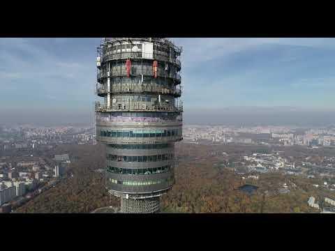 4К drone - Останкинская телебашня
