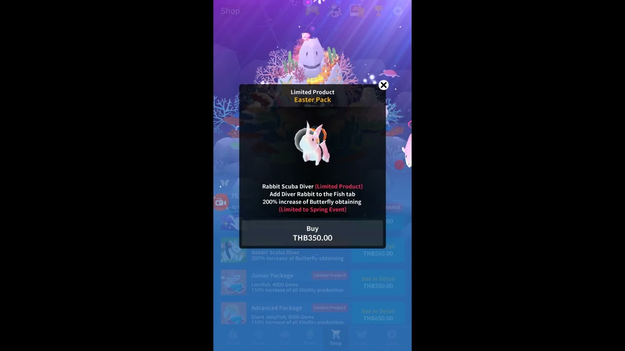 Abyssrium tap tap fish how to get the easter rabbit for Tap tap fish