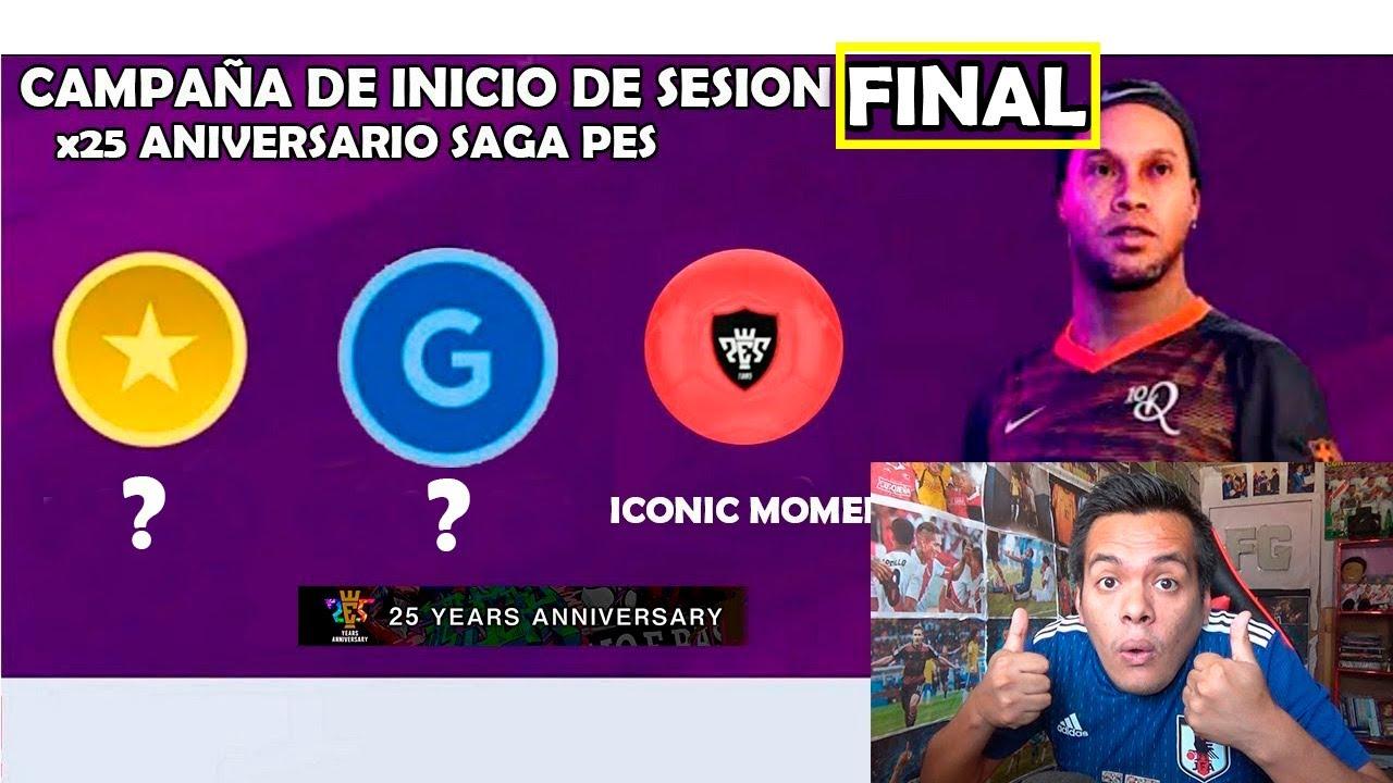 RONDA FINAL DE REGALOS POR EL 25° ANIVERSARIO DE LA SAGA PES 2020 *Ronaldinho*
