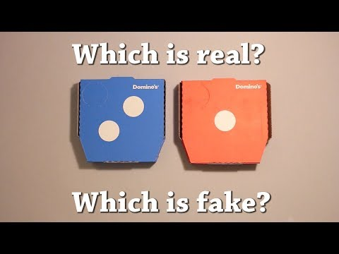 Fun Test: Which is Real? Domino's Pizza Drawing Challenge!