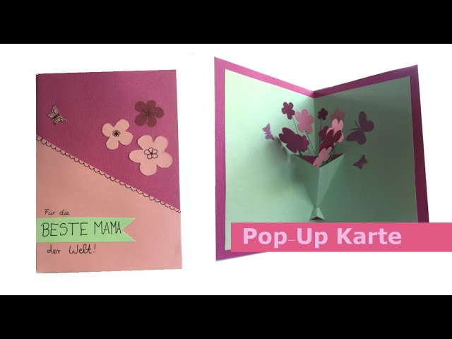 DIY Blumen Pop-Up 3D Karte Basteln zum Muttertag | Schritt-für-Schritt Bastelanleitung
