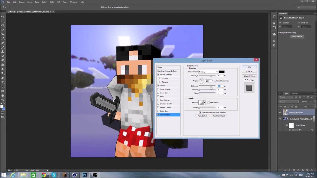 Minecraft Profile Pic Speedart #2 - R4MB0_C0M4ND0 - YouTube