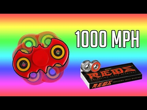 DIY 1000 MPH BATMAN FIDGET SPINNER - BONES REDS INSANELY FAST SKATE BOARD BEARINGS