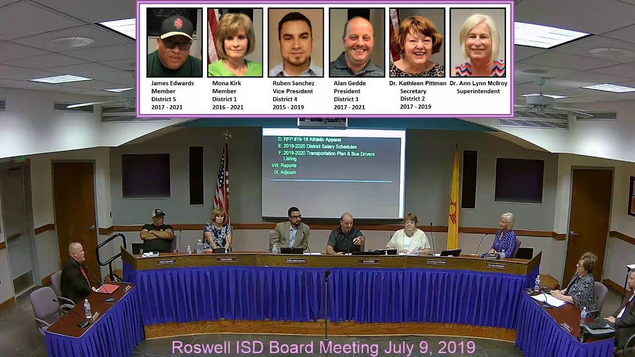 Roswell Independent School District Board Meeting - YouTube