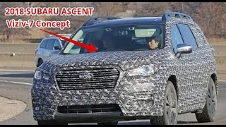2018 subaru ascent three row crossover suv spotted showing off its shape   viziv 7 concept
