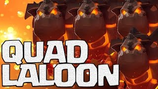 Queen Pop Laloon TH9 Attack Strategy Works! | Best Attack for Low Level Heroes | Clash of Clans
