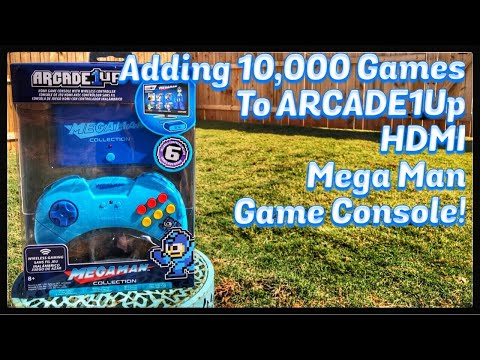 Adding 10,000 GAMES to Arcade1Up MEGA MAN HDMI Game Console with @GenXGrownUp from Emceemur