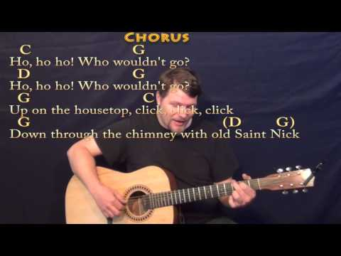 Ukulele ukulele chords up on the housetop : Up On The Housetop - Fingerstyle Guitar Cover Lesson in G with ...