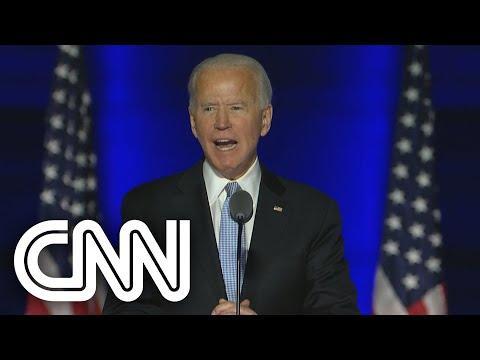 O primeiro discurso de Joe Biden como presidente eleito dos Estados Unidos