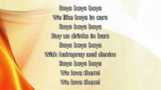 Lady Gaga - Boys Boys Boys, Lyrics In Video