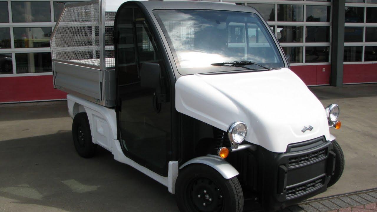 ligier be sun l3 electric 45 km h pick up kipper youtube. Black Bedroom Furniture Sets. Home Design Ideas