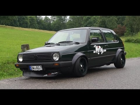 VW Volkswagen Golf II MK2 with mbl76Fender & Duck Bill Front Spoiler pwrd by be-nifty.com - YouTube