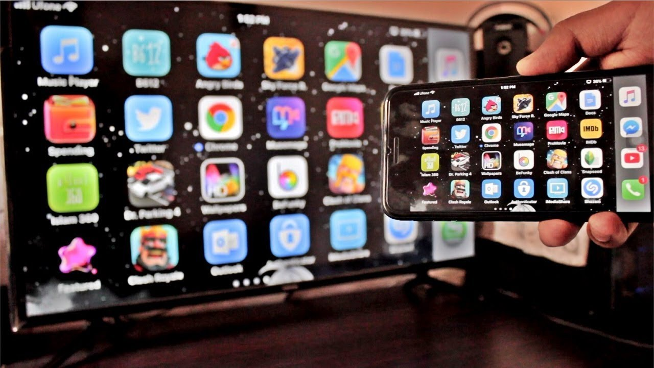 Screen mirroring iphone to samsung tv wirelessly no for Mirror iphone to tv
