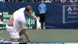 Andy Roddick 2011 Victory Dive..
