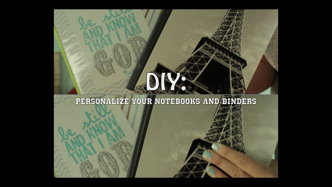 DIY| personalize your school notebooks and binders |~By Liv - YouTube