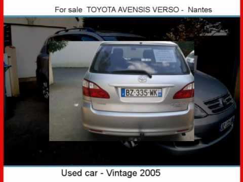 sale one toyota avensis verso nantes youtube. Black Bedroom Furniture Sets. Home Design Ideas