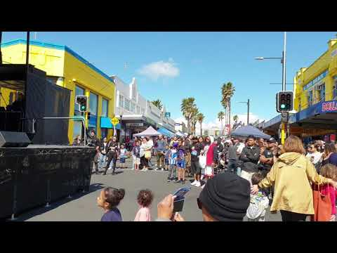 Pacific Island boys perform awesome rap at Otahuhu Food Festival 2018, Auckland, New Zealand