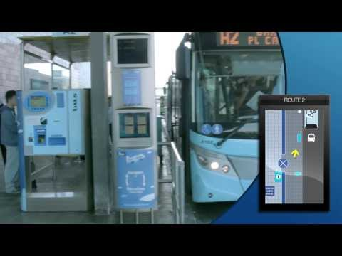 How to get to the Aerobus bus stop at terminal T2