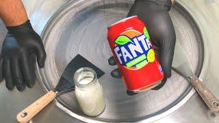 Fanta Ice Cream Rolls | how to make Fanta Strawberry Kiwi Ice Cream - rolled Ice Cream Recipe | ASMR