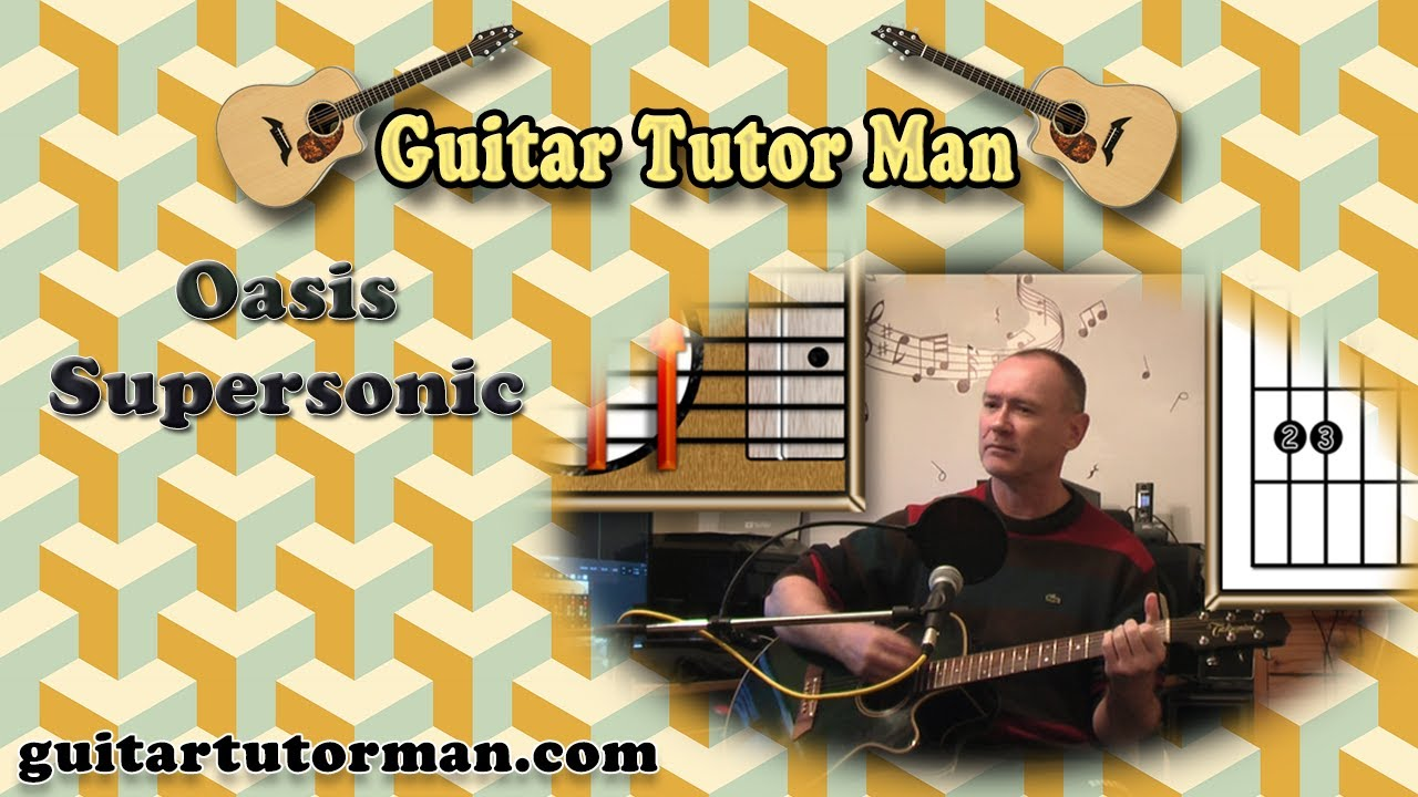how to play oasis supersonic guitar