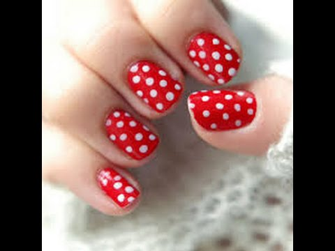 Tutorial How To Paint A Lady Bug Design On Your Nails For Kids Who Don T Know Hd You