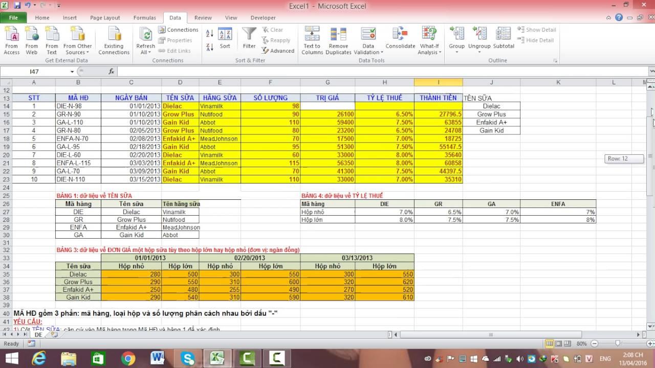 Bài 25: Lập báo cáo kết quả kinh doanh sử dụng Pivotable