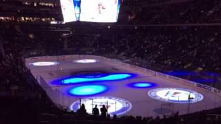 New York Rangers game opening ceremony at Madison Square Garden