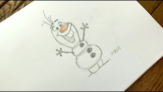 How to Draw Olaf from Frozen l #DrawWithDisneyAnimation