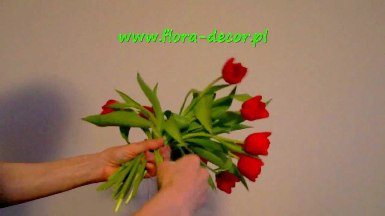Jak Zrobic Bukiet Z Kwiatow Tulipany Krok Po Kroku Youtube