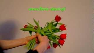 Jak zrobić bukiet z kwiatów - tulipany krok po kroku