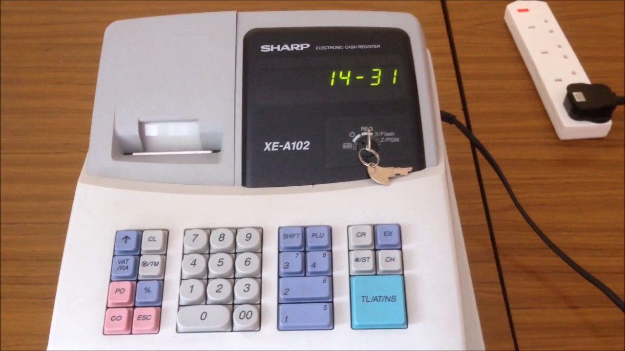 Sharp Xe A102 Cash Register How To Use Your Cash Register As A Clock