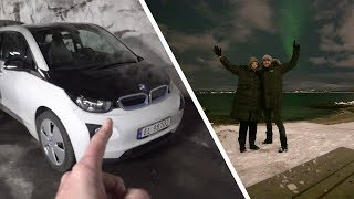 NORTHERN LIGHTS CHASING IN A BMW i3 | TROMSO NORWAY PART 1
