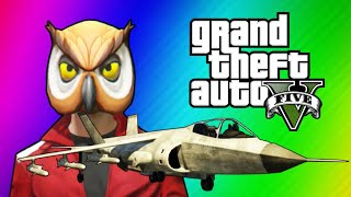 GTA 5 Online Funny Moments - Hydra Jet Fun, Delirious's Battle Gear, Owl Tree! thumbnail