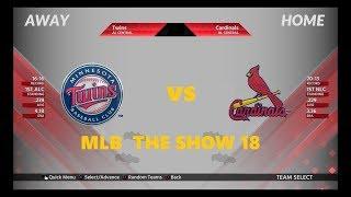 TWINS VS CARDINALS  KOLTEN WONG GRAND SAM MLB  THE SHOW 18