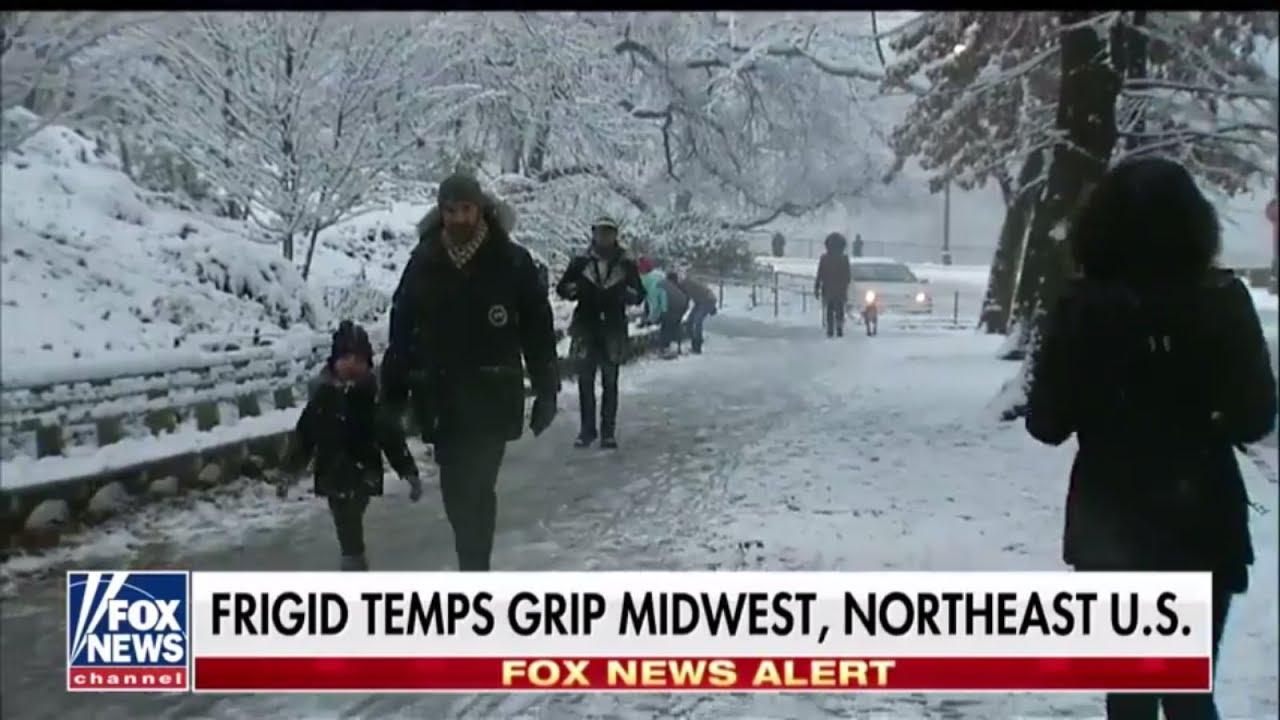 Frigid Temperatures Grip Midwest, Northeast US