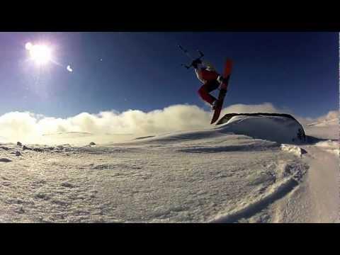 Norwegian snowkiting 2012