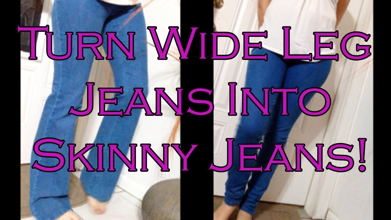 How to make Skinny Jeans from Flare or Boot Cut Jeans! Quick and ...