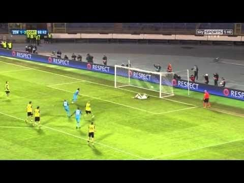 Borussia Dortmund 1 - 2 Zenit Petersburg Goals And Highlights Champions Legue