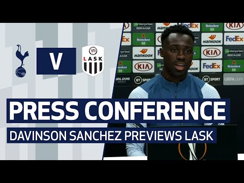 PRESS CONFERENCE | DAVINSON SANCHEZ PREVIEWS LASK | Spurs v LASK