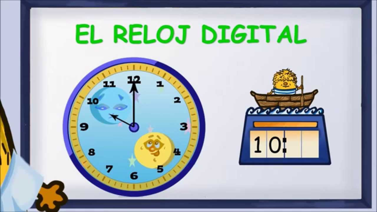 1 primaria el reloj digital youtube - Reloj digital de pared gigante ...