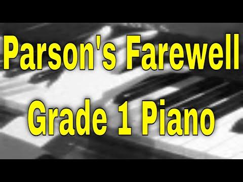 Parson's Farewell - Grade 1 ABRSM Piano 2021/2022 A3