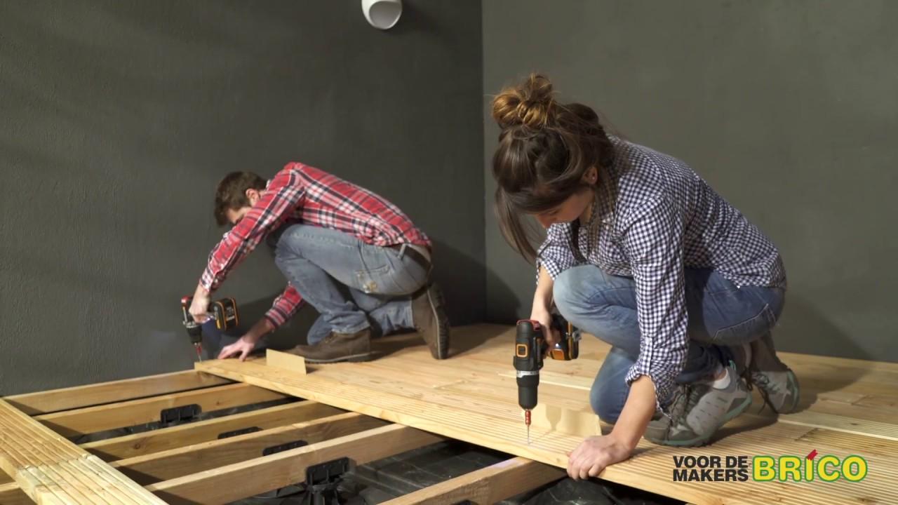 Je eigen houten terras maken youtube