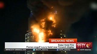 Flames engulf luxury hotel in Dubai