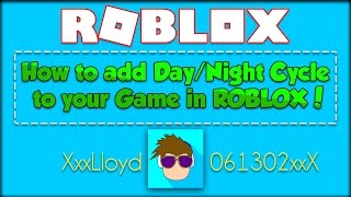 How To Make A Day/night Cycle Script In Roblox!