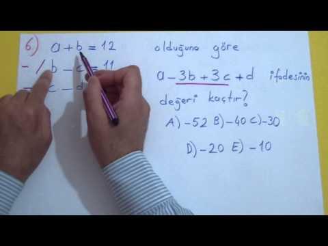 1. Dereceden Denklemler Soru Çözümü Şenol Hoca Matematik